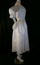 FANCY NY NEW YORK  WHITE TEA LENGTH SIZE 6  WEDDING GOWN DRESS SILK