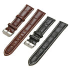 18/20/22mm Crocodile Genuine Leather Strap Wristwatch Watch Band Pin Buckle Gift