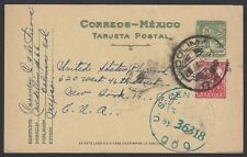 MEXICO, 1944. Censor Post Card H&G 137, Colima - N.Y.