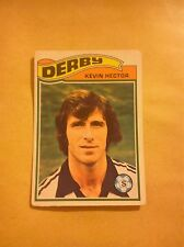 DERBY COUNTY FOOTBALL CLUB 1978 TOPPS CARD KEVIN HECTOR # 153 DCFC VGC