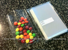 100 pcs 4x6 (O) Clear Flat Open End Cello Bags for Bakery / Cookie / Candy