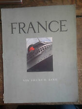 France via French line / Paquebot
