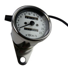 Mini Tachometer Speedometer kleiner Motorradtacho weisses ZFB für Bobber Chopper