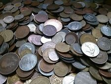 Lot of 75 + world treasure hunt foreign coins + 100 year old & silver coin #4-24