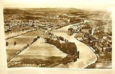 Photographie fleuve La Moselle en amont de Metz vue aérienne 1960 44cm