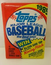 VINTAGE 1985 TOPPS BASEBALL (1) WAX PACK - RC CLEMENS McGUIRE PUCKETT HERSHISER