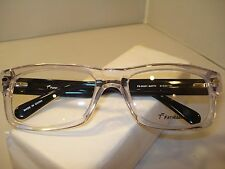 AUTH NEW FATHEADZ EYEGLASSES MATTY 00201 CLEAR BLACK X LARGE SIZE 61 PLASTIC