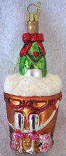 Champaign for Two,Christmas,New Year,First Christmas,Ornament,Blown Glass