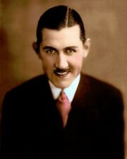 "CHARLEY CHASE ACTOR COMEDIAN SCREENWRITER 8x10"" HAND COLOR TINTED PHOTOGRAPH"