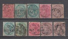 British India Stamps of Queen Victoria 10 Different Used