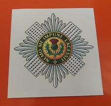 Scots Guards vinyl sticker  85mm 7-10 year vinyl printed with eco solvent ink