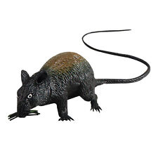 LARGE SQUEAKING BLACK RAT FOR HALLOWEEN PARTY JOKE FRIENDS FUN