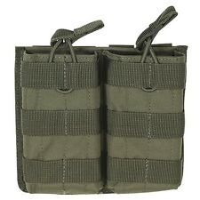 Voodoo Tactical Double 5.56 .223 Open Top Magazine Mag Pouch MOLLE PALS OD Green