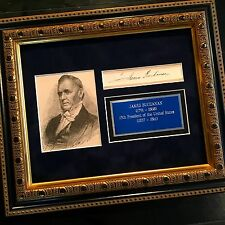 President JAMES BUCHANAN Scarce Cut Signature AUTOGRAPH SIGNED * Civil War