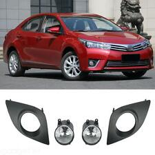 For Toyota Corolla 2014-2016 Front Fog Bumper Lamp Light Cover+Wiring Kit 2PCS