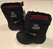 """NEW~~KAMIK""""Waterbug5"""" Youth Insulated Black Snowboots~~Size 11"""