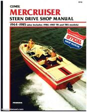 MerCruiser Stern Drive Boat Engine Shop Manual 1964-1987 : B740