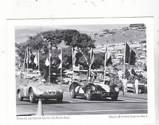 "+PC-Postcard-""Porsche & Lister-Cross Finish Line!""-1950's- *Mazda Raceway (#87)"