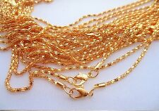 "Lot of (50) 20"" 2MM Gold Plated Chains"