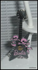 ACCESSORY BARBIE HARD ROCK MODEL MUSE DOLL BLACK PINK PIN GUITAR FOR DIORAMA