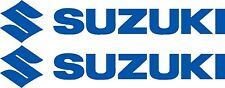"SUZUKI DECALS TWO LARGE 580mm 8year UV vinyl "" CHOICE OF COLOURS "" Boat  Sticker"