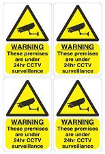 4 X CCTV STICKERS WARNING SIGNS