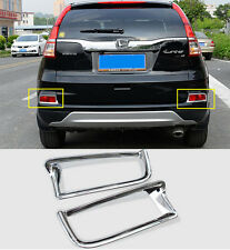 For Honda CRV CR-V 2015 2016 ABS Chrome Rear Tail Fog Light Lamp Cover Trim 2pcs
