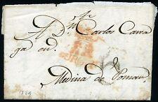 ESPAÑA PREFILATELIA BURGOS A MEDINA DE POMAR 1829