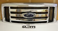 2009-2012 Ford F-150 Front Chrome 3 Bar Grille w/ Emblem new OEM 9L3Z-8200-D