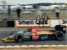 Thierry Boutsen Hand Signed Benetton Photo 8x6.