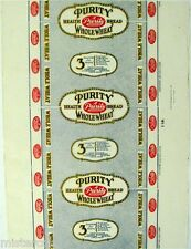 Vintage bread wrapper PURITY WHOLE WHEAT dated 1927 Tri State Baking Toledo Ohio