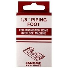 "Janome 1/8"" Piping Foot - NEW Overlocker Serger Inch Snap on Clip on Elna Lumina"
