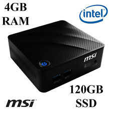 MSI Cubi Mini Pc/Intel Dual Core/4GB DDR3 Ram/120GB SSD/Windows 10 Pro