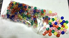 300 Mixed Color Transparent Acrylic 6x9mm Pony Beads Hair School Rubber Band Kid