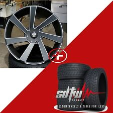24 DUB Directa S133 Black Wheels Tires Rims Fits Ford F150 Lincoln Navigator