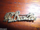 THE BEATLES SCRIPT BROOCH-BADGE-PIN GOLD (COLOURED) GENUINE ITEM FROM THE 1960's