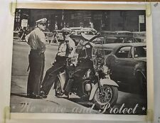 We Protect & Serve Cops Middle Finger Vintage Poster Headshop Police 1970's Cop