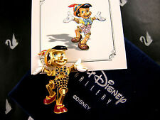 SWAROVSKI SIGNED DISNEY CRYSTAL PINOCCHIO PIN ~BROOCH NEW IN BOX RARE RETIRED