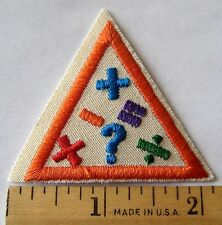 Girl Scout 1989-1998 Brownie MATH FUN TRY-IT Badge Patch Calculate Algebra Plus