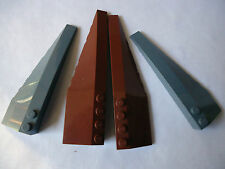 LEGO  50955/50956 AND 42061/42060 BROWN AND DK GREY LEFT AND RIGHT WEDGE PIECES