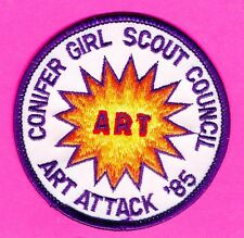 Girl Scout badge - Conifer Council - Art Attack - 1985 Day Camp (119)