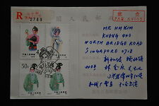 China PRC T87 4f, 8f, 50f x 2, T82 8f on Postcard-Heilongjiang-Haerbin 1983.7.20
