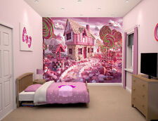"Prepasted Wall Mural Foto Wall Decor Candy Theme wallpaper  82.7"" X 55.5"" BZ424"