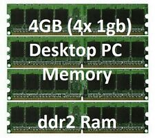 4GB= 1GB x 4 DDR2 DESKTOP MEMORY RAM hp pc6400 800Mhz DELL INSPIRON 530 pc2-6400