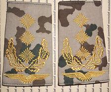 Schulterklappen Rangabzeichen Luftwaffe Generalleutnant gold Wüstentarn ##F1262