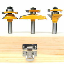 "3pc 1/2"" SH 12° Raised Panel /Backcutter & Classical R&S Router Bit Set sct-888"