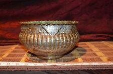 """Copper Decorative Bowl Planter Scalloped edge 7 3/4""""x4 5/8"""" Made in Egypt"""