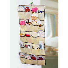 20 Pockets Over Door Cloth Shoe Organizer Hanging Hanger Closet Space Storage SY