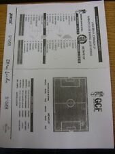 23/01/2016 Teamsheet: Granada v Getafe (folded). Any faults with this item have