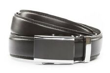 Anson Belt & Buckle. Mens onyx buckle with black leather strap